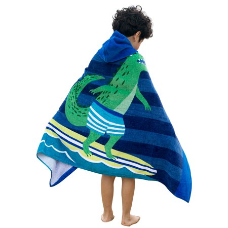Childrens Swimming Towels (Kids Hooded Beach Towel Blanket Cotton Super Absorbent Cute Catoon Bath Swim Pool Towel Cape Cloak Boy Girl Surfing)
