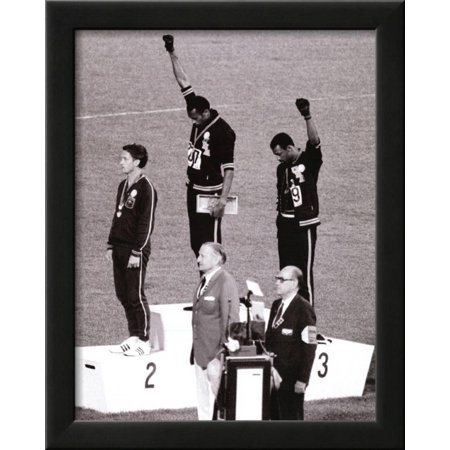 Black Power (Tommie Smith & John Carlos, Olympics, 1968) Ph... Framed Art Print Wall - Olympic Baseball Wall Art