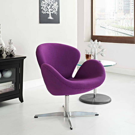 Modway Wing Wool Upholstered Lounge Chair, Multiple Colors