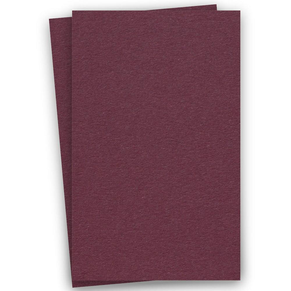 basics burgundy 11x17 ledger paper 80c cardstock  100