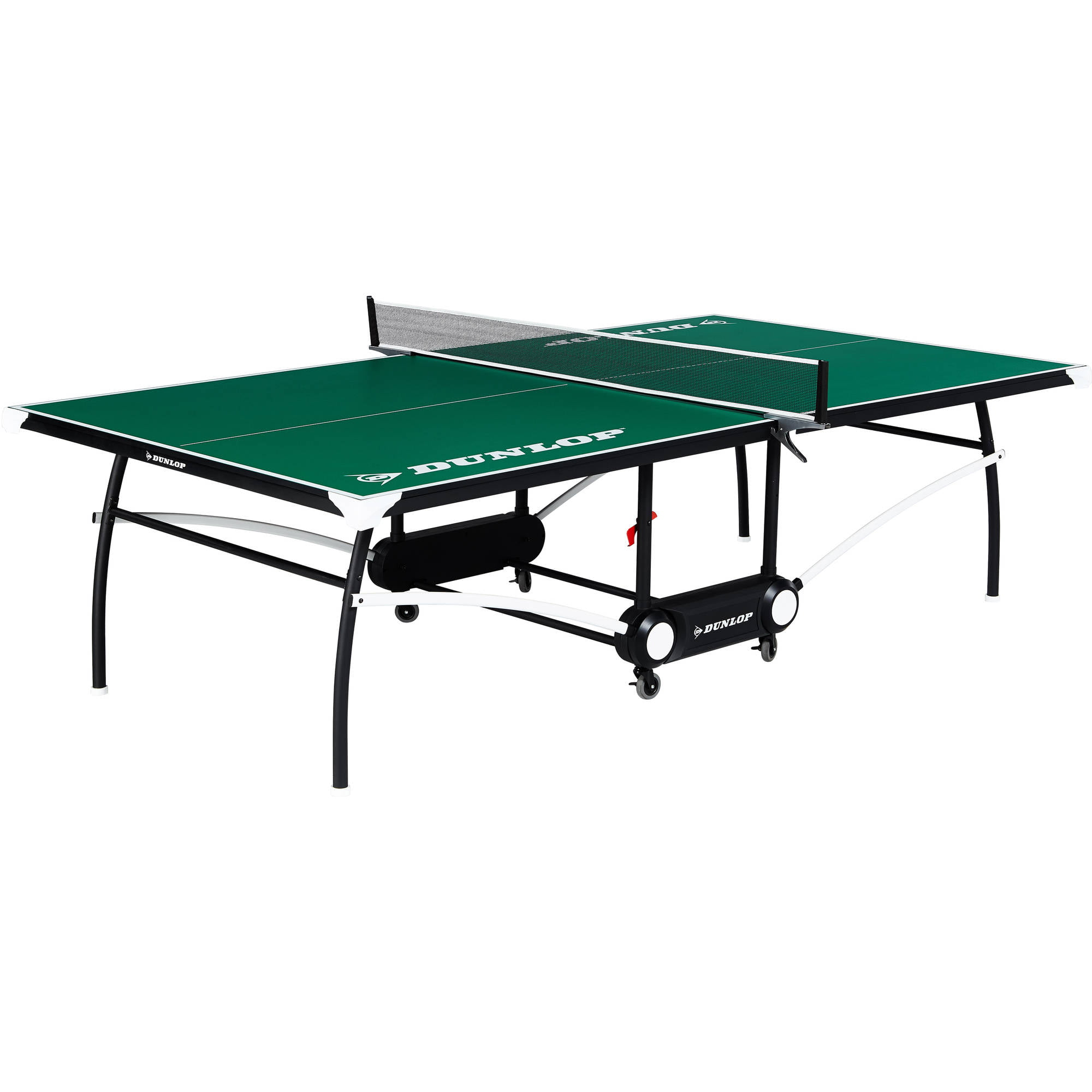 Dunlop 2-Piece Ping Pong Table, Official tournament size, green by Medal Sports