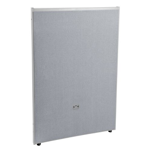 """OFM RiZe 47"""" x 31"""" Full Faux Leather Panel in Gray"""