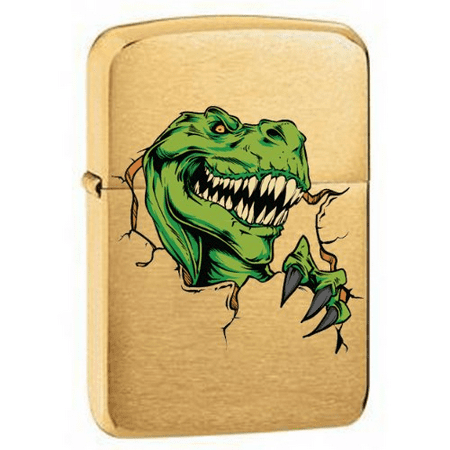 Vector KGM Thunderbird Custom Lighter - Tyrannosaurus Rex T Rex Deadly Dinosaur Vintage Brass for $<!---->