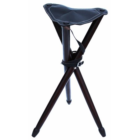 Awe Inspiring Hunting Tripod Stool Wooden Folding Chair Leather Seat 2 5Ft Tall 984115 Pabps2019 Chair Design Images Pabps2019Com