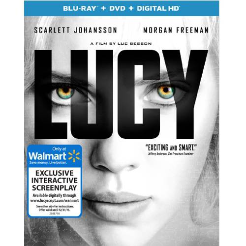 Lucy (Blu-ray + DVD + Digital HD + Interactive Screenplay) (Walmart Exclusive) (With INSTAWATCH) (Widescreen)