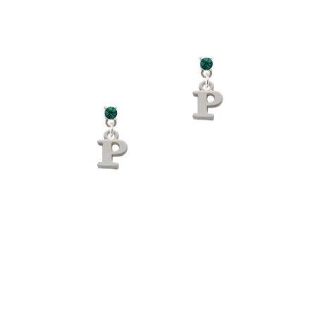 Small Greek Letter Rho Green Crystal Post Earrings Walmart
