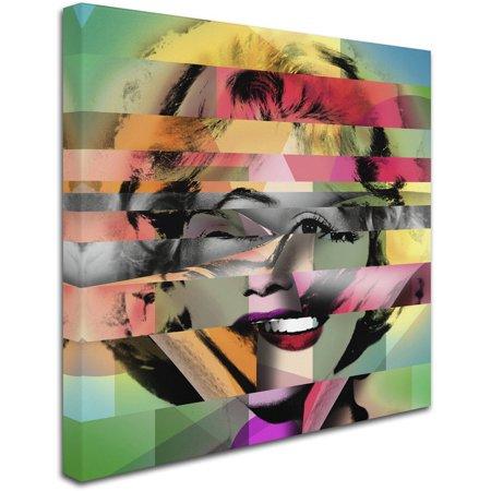 "Trademark Fine Art ""Marilyn Monroe V"" Canvas Art by Mark Ashkenazi"