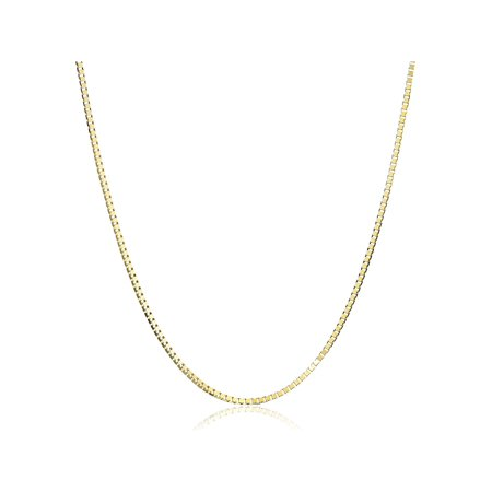 Eternity Gold Box Chain Necklace in 14kt Gold, 18