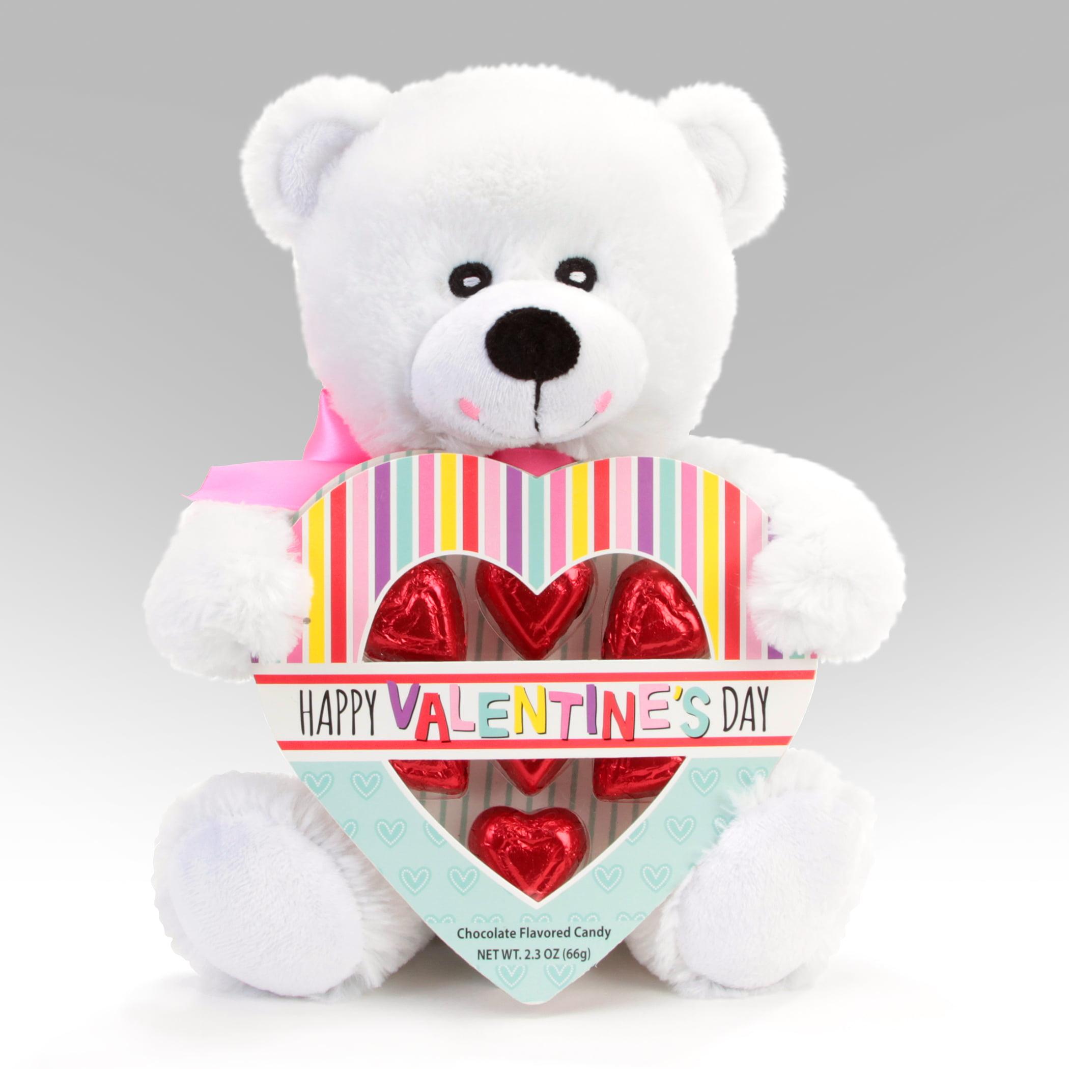 Progressive Balloons and Gifts White Bear Heart Box Gift
