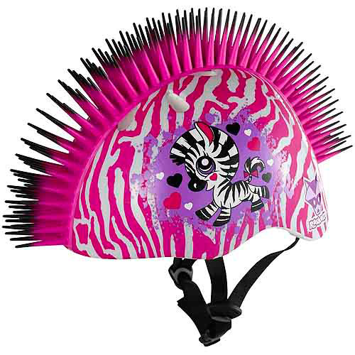 Raskullz Zebra Mohawk Helmet, Child 5+ (50-54cm)