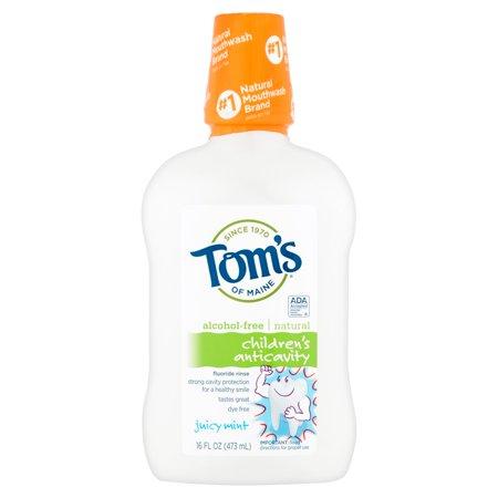 Toms Of Maine Childrens Anticavity Juicy Mint Fluoride Rinse  16 Fl Oz