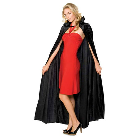 Long Black Crushed Cape