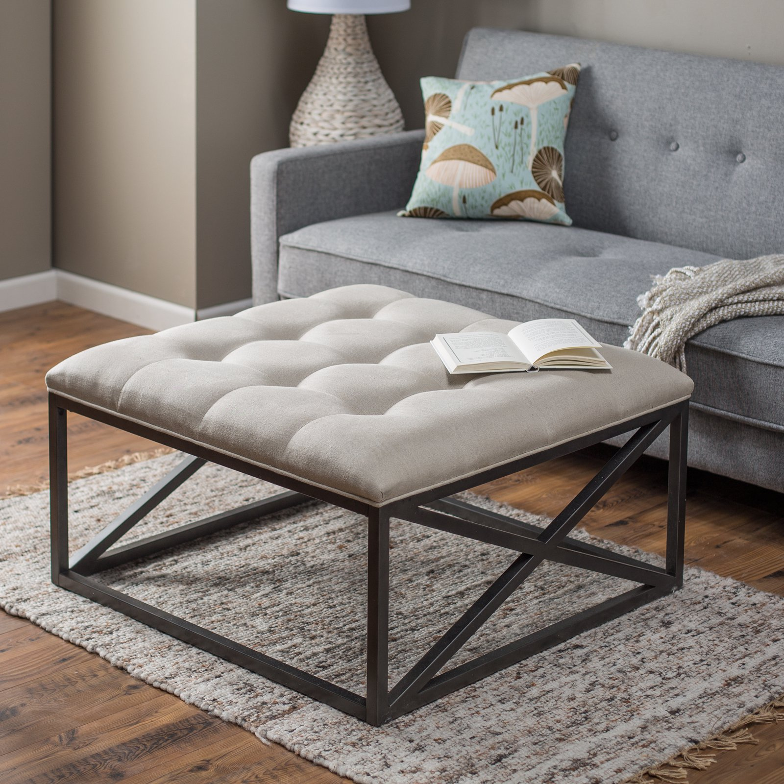 Exceptionnel Belham Living Grayson Tufted Coffee Table Ottoman