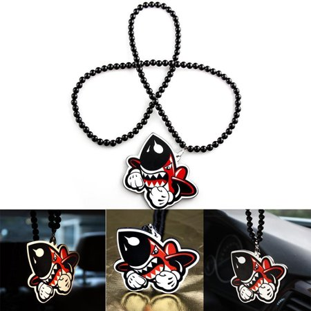 (Xotic Tech Rearview Mirror Hanging Charm Dangling Pendant For Car Decoration-Shark Missile)