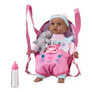 "My Sweet Love 14"" Baby Doll and Sling Carrier Play Set, 2 Pieces, Cat, African American"