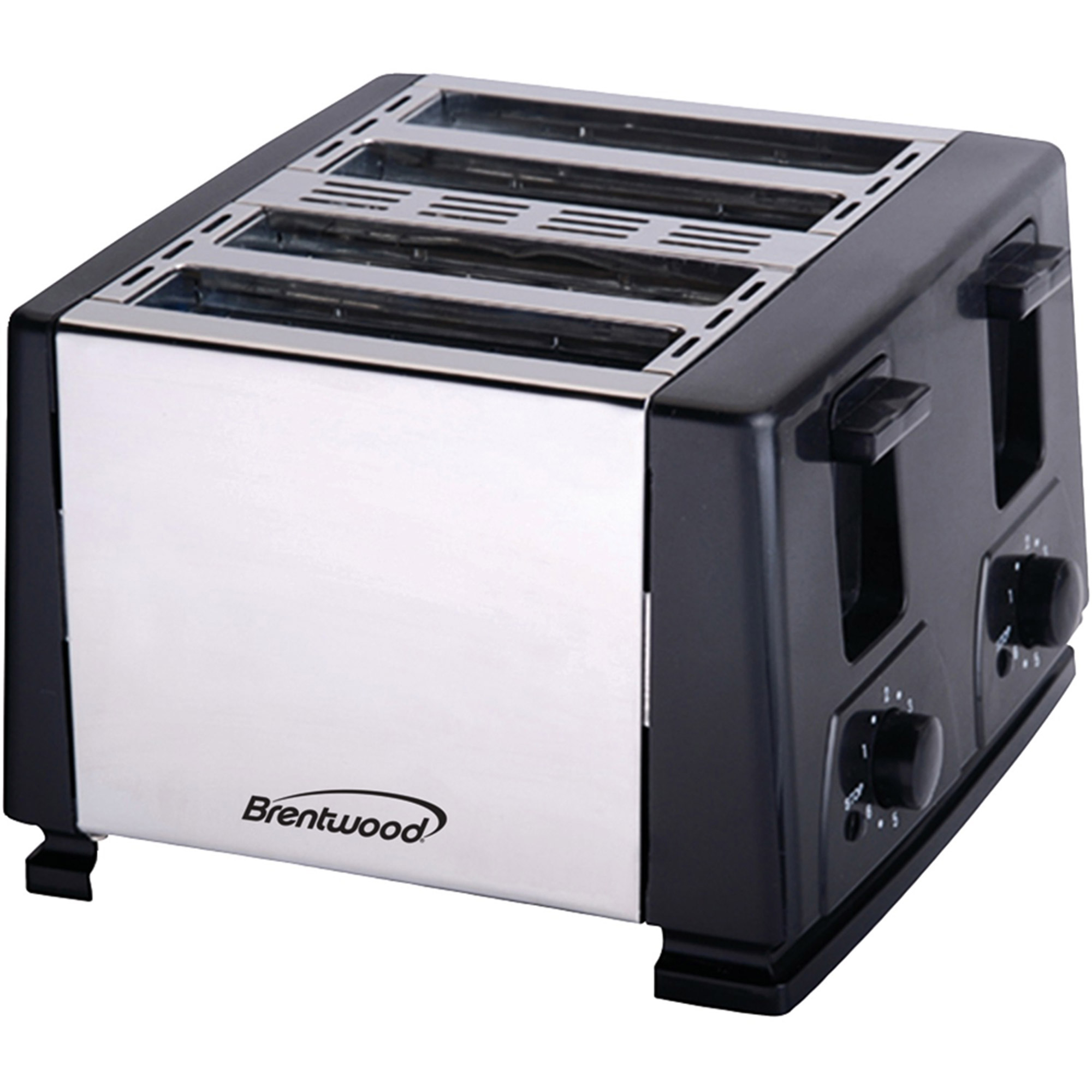 Brentwood TS-284 4-Slice Toaster, Black