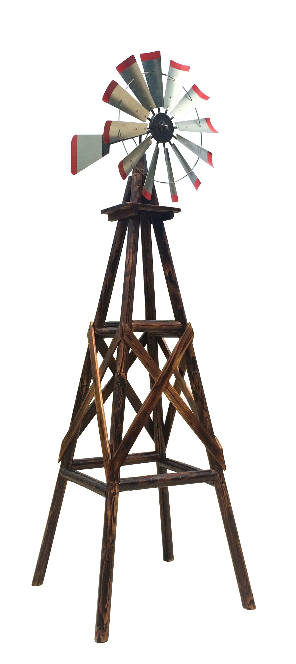 Leigh Country 9 Foot Char-log Windmill by United General Supply Co Inc