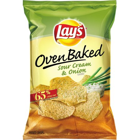 Baked! Lay's Sour Cream & Onion Potato Crisps, 6.25 oz - Walmart.com