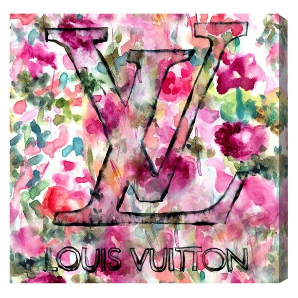 Runway Avenue Floral And Botanical Wall Art Canvas Prints Lv Garden Florals Pink Green Walmart Com Walmart Com