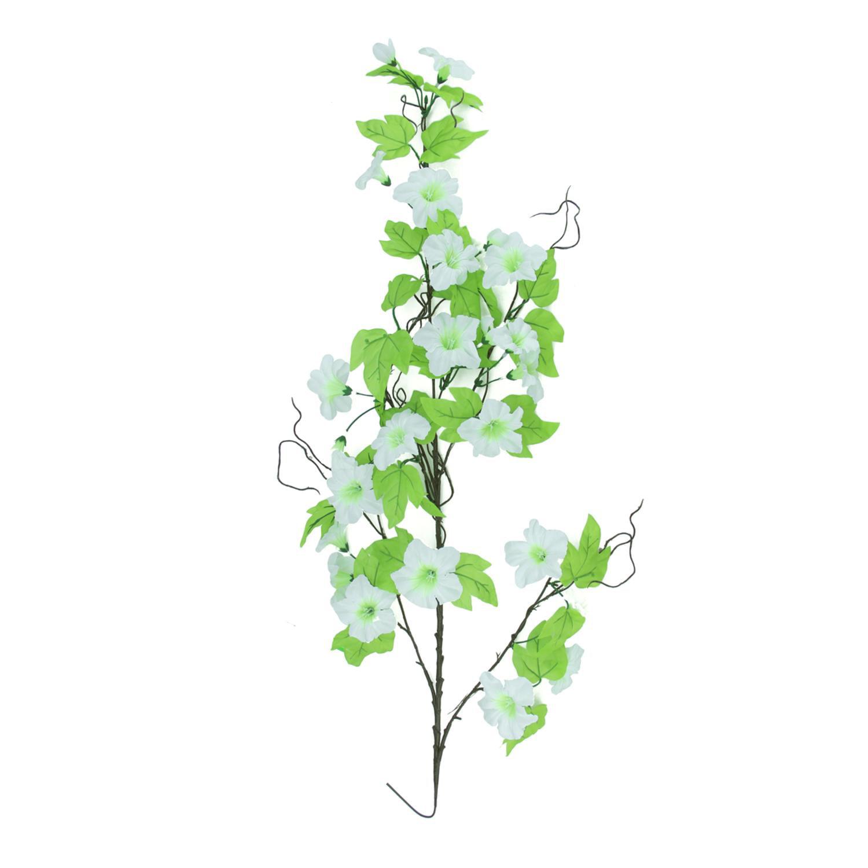 36 Decorative White Petunia Flower Spring Artificial Teardrop Swag