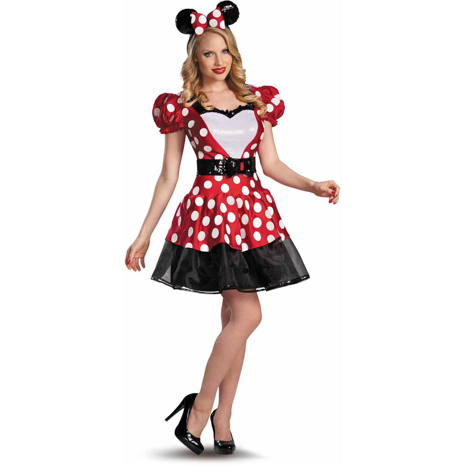 Red Minnie Glam Women's Adult Halloween Costume