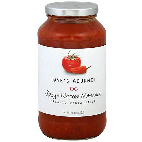 Dave's Gourmet Organic Spicy Heirloom Marinara Pasta Sauce, 26 oz (Pack of 6)