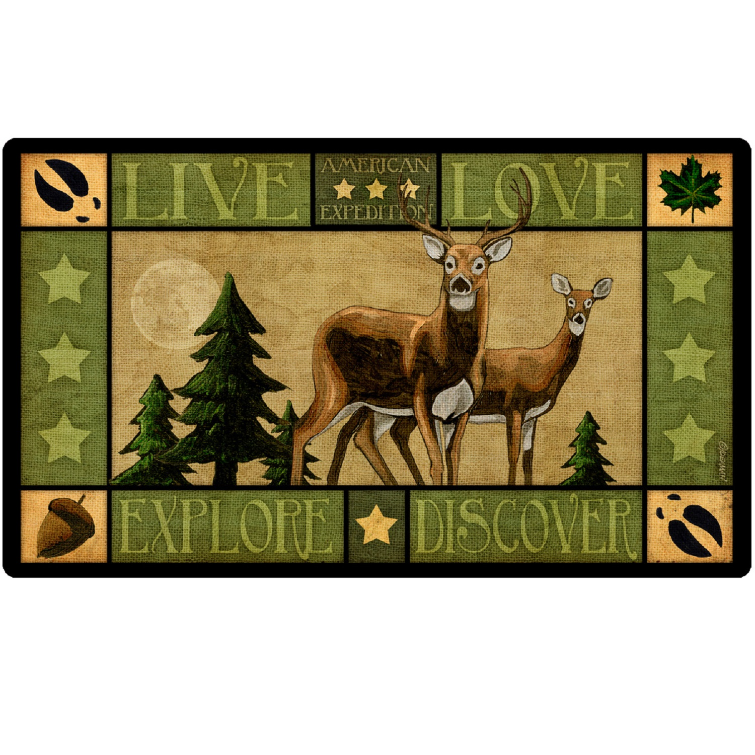 American Expedition Cutting Board - Lodge Series Deer