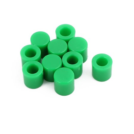 10Pcs Round Shaped Tactile Button Caps Covers Green for 6x6mm Tact Switch - image 2 of 2