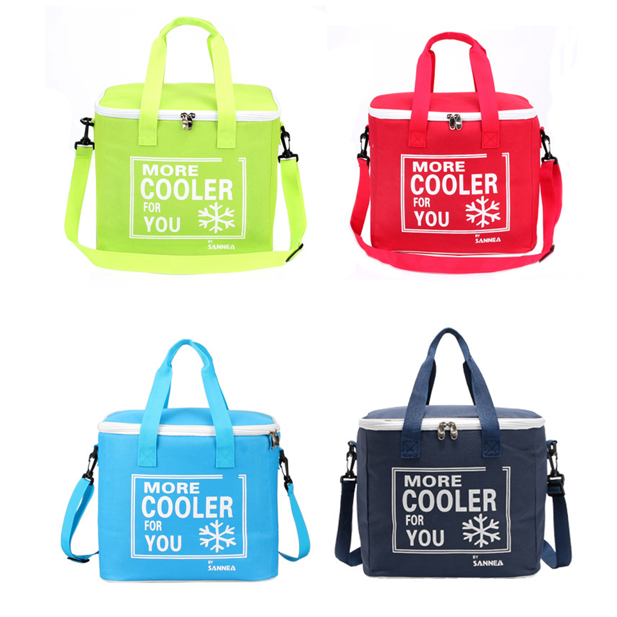 4 Colors 6L Portable Insulated Lunch Bags Light-weight Waterproof Picnic Food Bag Cold Thermal Storage Box