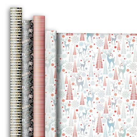 Jillson & Roberts Premium Gift Wrap Jumbo Roll Assortment, Christmas Designs (4 - Star Wars Wrapping Paper