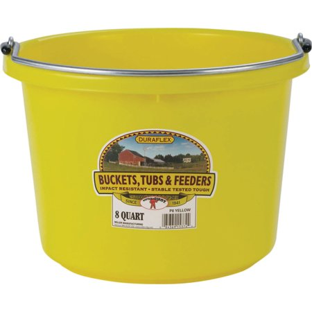 Miller Mfg Co Inc P-Little Giant Plastic Bucket- Yellow 8 Quart
