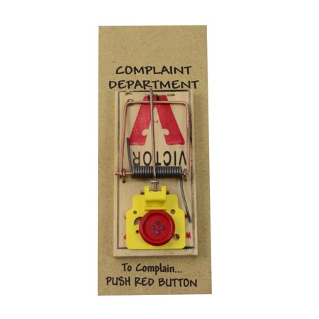 Complaint Department Mouse Trap Desk Display 3D Sign Funny Office Prank Gag Gift
