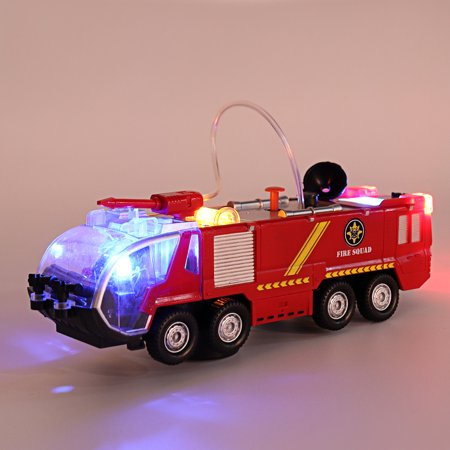 2 Types Firefighters Fire Engines Electric Universal Toy Car Can Water Sprey with Music Colorful Lights - image 4 de 8