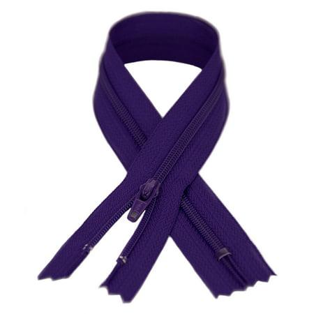 - YKK #3 Coil Zipper, 13.5 inch length, Royal Purple 029
