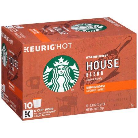 Starbucks House Blend Medium Ground Coffee K-Cups 10 ct ...