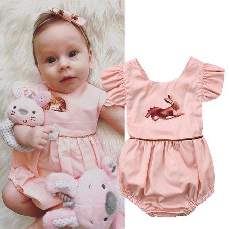b8c416750 Honganda - Easter Bunny Newborn Clothes Baby Girl Toddler Romper Bodysuit  Playsuit Outfits - Walmart.com