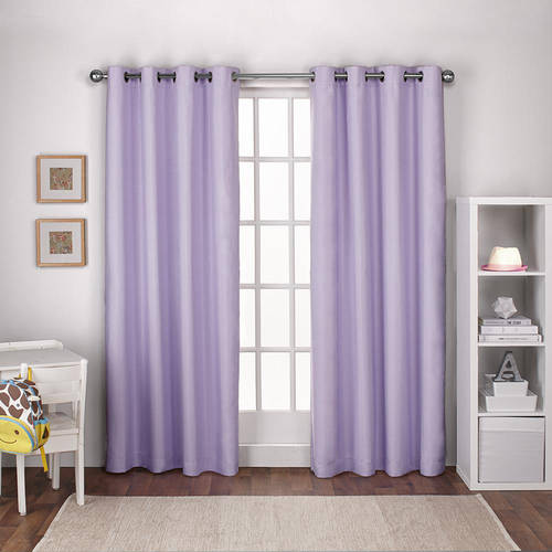 Exclusive Home Textured Linen Thermal Window Curtain Panel Pair with Grommet Top
