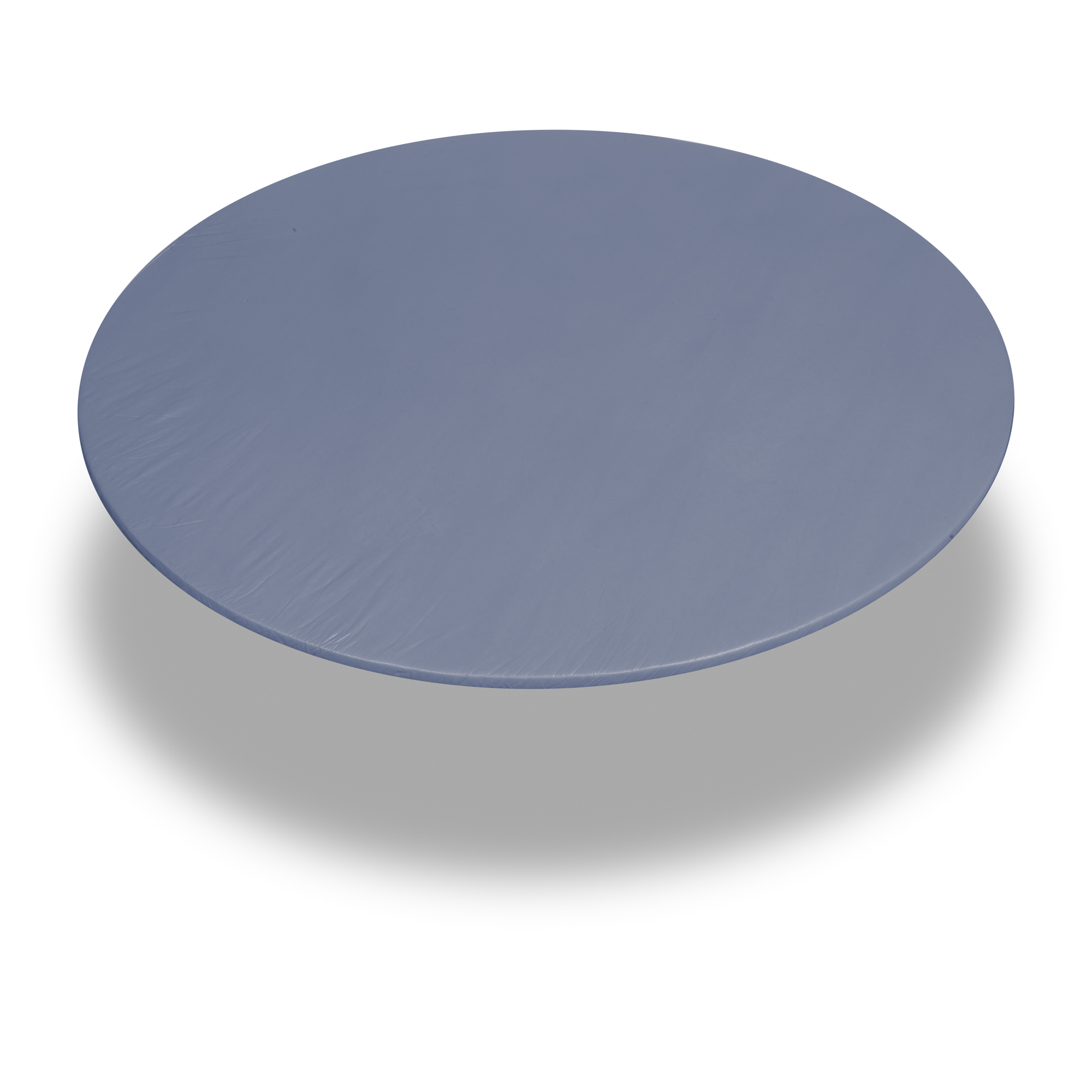 Carnation Home Fashions Slate 60 Inch Round Fitted Vinyl