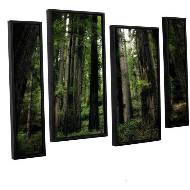 Artwall Kevin Calkins Among The Giants 4 Piece Floater Framed Canvas Staggered Set Walmart Com Walmart Com