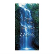 Create In Me A Clean Heart Canvas Church Banner