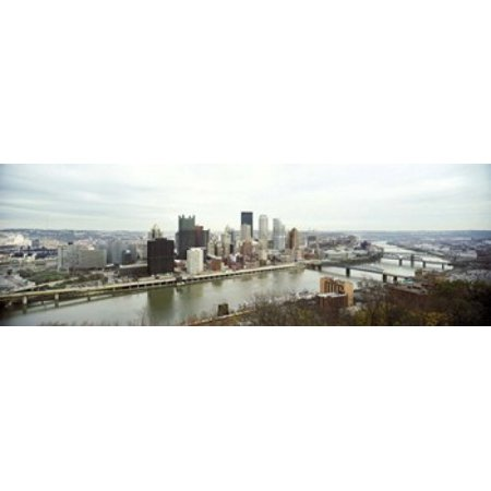 High Angle View Of A City Pittsburgh Allegheny County Pennsylvania Usa Canvas Art   Panoramic Images  18 X 6