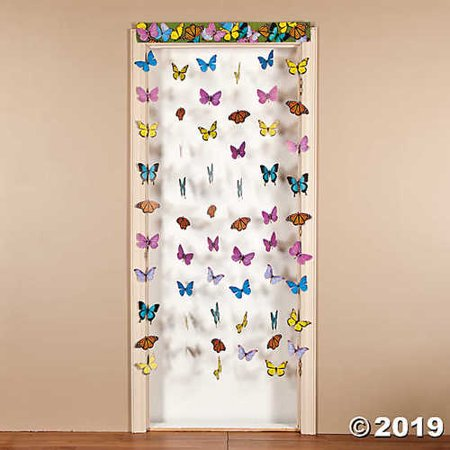 Butterfly Hanging Doorway Curtain](Beaded Curtains For Doorways)