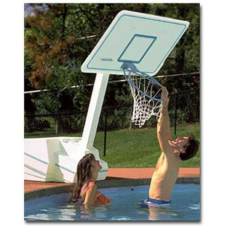 Dunnrite Splash And Slam Swimming Pool Basketball Hoop With 18 Inch Stainless Steel Rim