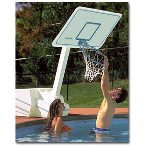 Dunnrite Splash and Slam Swimming Pool Basketball Hoop with 18-inch Stainless Steel Rim