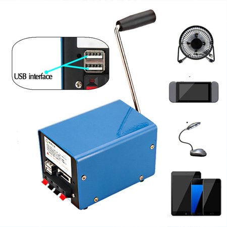 Survival High Power Portable Outdoor/Home Manual Hand Crank Emergency Generator Universial USB Power Supply SOS Camping Outdoor For Cellphone MP3 (The Hand Crank Emergency Cell Phone Charger)