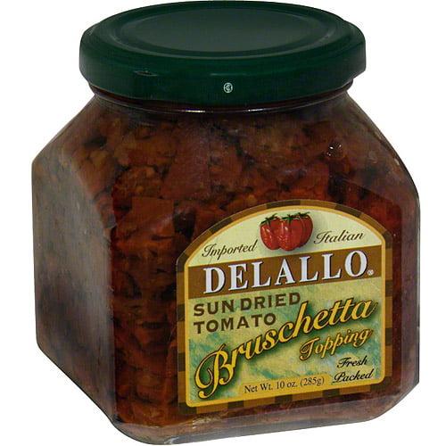 DeLallo Sun Dried Tomato Bruschetta, 10 oz (Pack of 6)