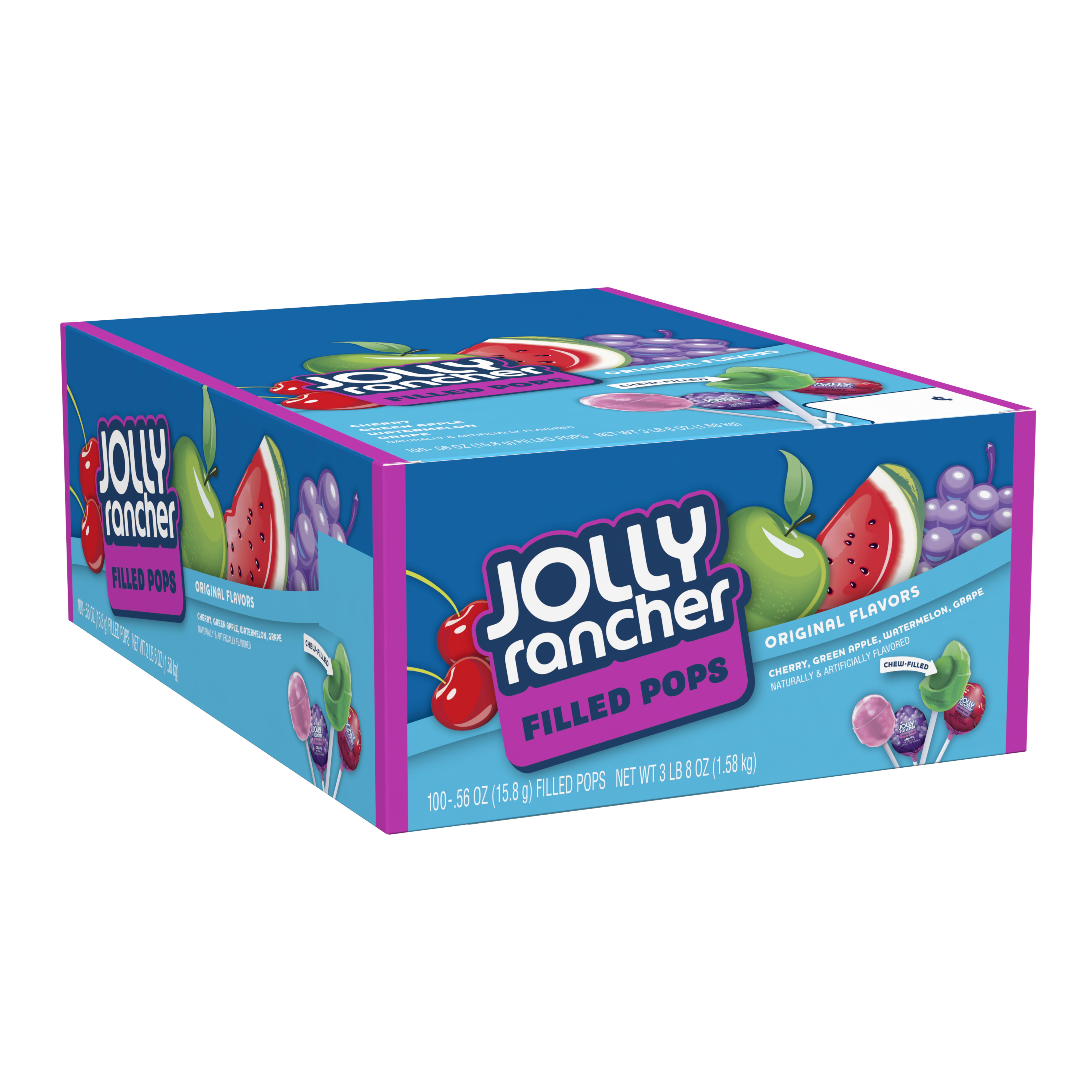 Jolly Rancher, Original Flavors Filled Pops, 0.56 Oz, 100 Ct
