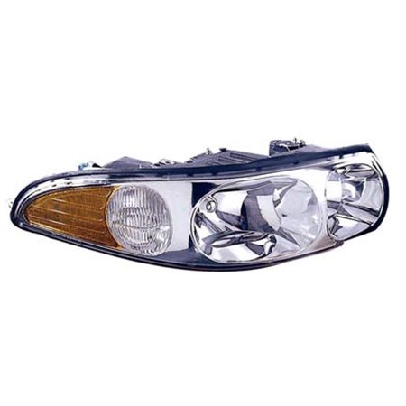 2000-2005 Buick LeSabre Passenger Side Right Head Lamp Assembly incl Marker Lamp and Fluted High Beam V