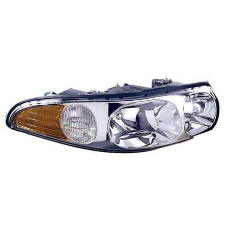 2000-2005 Buick LeSabre Passenger Side Right Head Lamp Assembly incl Marker Lamp and Fluted High Beam (Buick Lucerne Headlight Assembly)