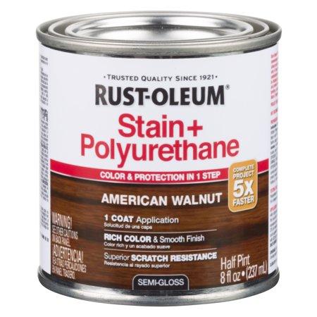 American Walnut Rust Oleum Stain Polyurethane Half Pint